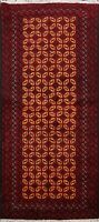 Tribal Balouch Geometric Afghan Oriental Area Rug Hand-knotted Wool Carpet 3'x6'