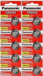 10 x Fresh PANASONIC CR 2025 CR2025 CR-2025 LITHIUM COIN CELL Battery Exp 2030