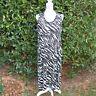 Robe Tunique Femme Ample Grande Taille 46 48 50 52 noir zebre zaza2cats
