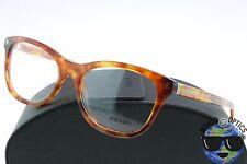 Prada RX Eyeglasses VPR 05R 4BW-1O1 Light Brown Havana Frame [53-17-140]