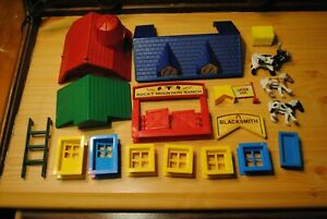 LOT Lincoln Logs Rocky Mountain Ranch PLASTIC PIECES ONLY Windows Doors Figures