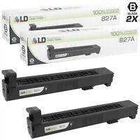 LD Remanufactured HP CF300A/827A 2PK Black Toner Cartridges for M880z/M880z Plus
