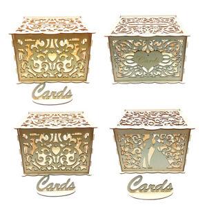 DIY Hochzeitskartenbox mit Schloss Holz Geschenkkartenaufbewahrung