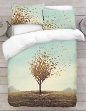 3d Photo Print Nature Theme Digital Duvet Quilt Cover With Pillowcases Surrealistic Tree King
