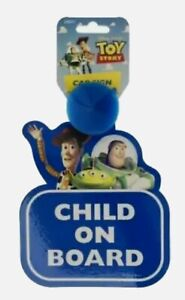 Disney Toy Story Baby On Board Car Sign With Suction Cup Kids Sticker