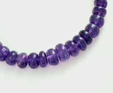 20 Amethyst Rondelle Beads 5-7 mm. 3 inches