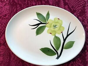 "Dixie Dogwood Platter Joni 12"" USA China Handpainted"