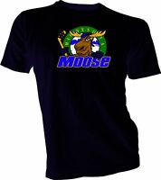 MINNESOTA MOOSE Defunct St. Paul MN IHL Hockey Team Retro Black T-SHIRT NEW
