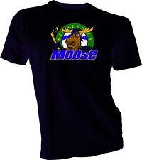 Minnesota Moose Defunct St. Paul Mn Ihl Hockey Team Retro Black T-Shirt New