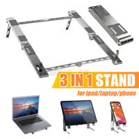3 in1 Portable Adjustable Foldable Tablet Stand Holders For ipad/laptop/phone