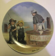 Edwin M Knowles Fine China Plate Jeanne Down Fresh Fish Limited Edition 1983