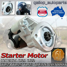 Starter Motor for Nissan Navara D21 D22 TD24 TD25 TD27 2.5L 2.7L Diesel 86-01