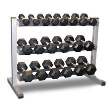 Body-Solid 3 Tier Rack & Bodypower 1-10Kg Rubber Hex Dumbbell Set