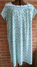 NWT Pink Label Sz 2X XXL Green Floral Embroidered Lace Ribbon Trim Nightgown