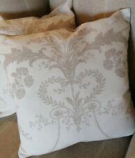 "TWO 16"" Laura Ashley Josette Truffle/Editions Fabric Cushion Covers"