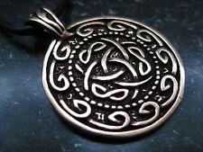 Keltischer Knoten Anhänger Bronze Keltenknoten  Wikinger Keltisch  /  BA 084
