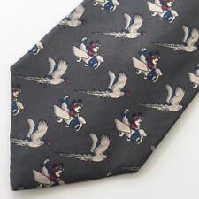 Mickey Mouse Aviator Airplane Mens Silk Tie  Pheasant Bird