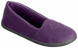 Dearfoams Women's Rebecca Memory Foam Closed Back Slippers - Small/5-6, Purple