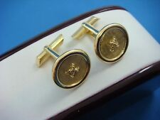 """18K SOLID YELLOW GOLD BEAUTIFUL """"BUTTON"""" CUFF LINKS, 14.7 GRAMS, MADE IN ITALY"""