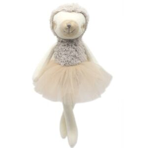 Stuffed Sloth Handmade Animal Plush Toy Soft Cute Brown Doll Ballerina Gift 34cm