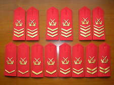 07's China Armed Police Forces NCO and Sergeant Major Shoulder Boards,7 Pair