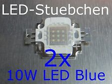 2x 10W High-Power LED Blau