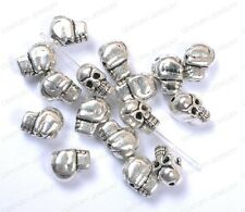 Wholesale 10Pcs Tibetan Silver Skull Spacer Charms Beads 10X8MM C41