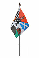CELTIC NATIONS flag PACK OF TEN SMALL HAND WAVING FLAGS WALES SCOTLAND