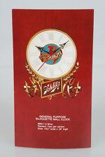 Original Schlitz Beer Silhouette Wall Clock Dealer Advertising Card Old