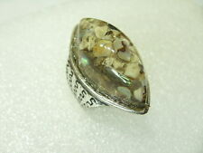 Perlmutt Abalone Paua Muschel Mix Fingerring 34 x 18 mm Ring SIZE 17