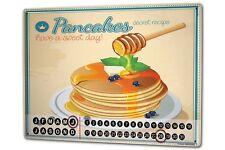 Perpetual Calendar Kitchen  Pancakes Tin Metal Magnetic