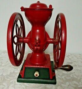 Antique ENTERPRISE Coffee Grinder Mill 1873 Philadelphia PA  Double Wheel - NICE