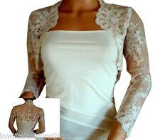 Ladies Ivory/White Lace wedding Lace Bolero, Jacket , Shrug by Lowlita Designs