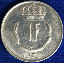 1 FRANCO 1970 LUSSEMBURGO LUXEMBOURG #1661A