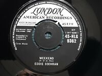 Eddie Cochran: 1960 Weekend/Cherished Memories :UK London:Excellent