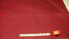 Red Diamond Print Upholstery Fabric Remnant  1 Yard  F505