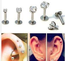 Ear Rhinestone Stainless Steel Body Jewellery