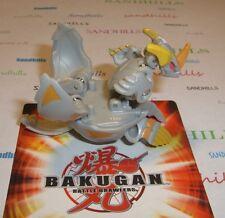 Bakugan Helix Dragonoid Gray Haos Gundalian Invaders DNA 780G & cards