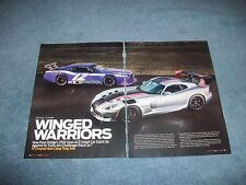 "2016 Dodge Viper ACR vs. Challenger Trans-Am Race Car Article ""Winged Warriors"""