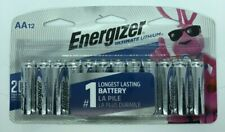 ENERGIZER AA BATTERIES (12 Count) DOUBLE A ULTIMATE LITHIUM BATTERY