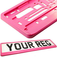 BARBIE PINK MATT Car Number Plate Surround Holder FOR ANY CAR, TRUCK VAN TRAILER