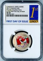 """2017 CANADA NGC FIRST DAY OF ISSUE SP69 """"PROUDLY CANADIAN"""" GLOW IN THE DARK S$5!"""