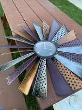 Rustic Farmhouse Country Metal Windmill Wall Clock