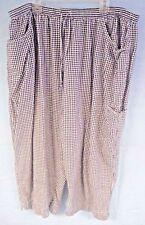 Fashion Bug Women's Casual Pants Black White Checkered Plus Size 3X XXXL 22/24W