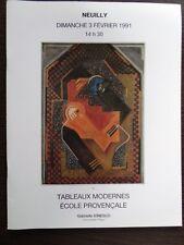 Catalogue de Vente Art Tableau Peinture Moderne - Ecole Provencale