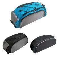 1*Bicycle Seat Rear Bag Waterproof Bike Pannier Rack Pack Large Shoulder L8J0