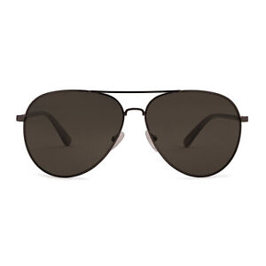 Calvin Klein CK19314 Aviator Sunglasses (Black, Matte Gunmetal)