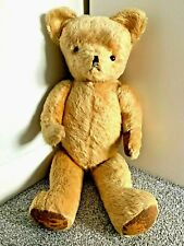 More details for large vintage golden mohair jointed teddy bear 29