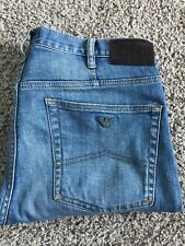 MENS ARMANI JEANS J31 REGULAR FIT Blue DENIM JEANS SIZE 33 W X 30 L