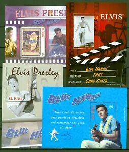 """St. Kitts 2010 - Elvis Presley im Film """"Blue Hawaii"""" - Kino - Block 98-101 **"""